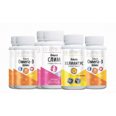 Комплекс витаминов (УнИК Литораль) :БАД помощь при диабете, курс на 30 дней