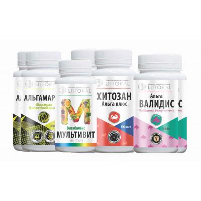 Комплекс витаминов (УнИК Литораль): БАД помощь иммунитету, курс на 30 дней