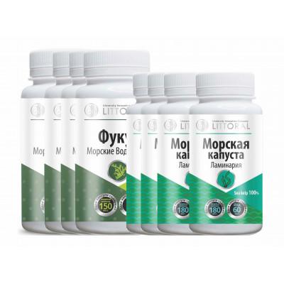Комплекс витаминов (УнИК Литораль): БАД при йододефиците, курс на 30 дней