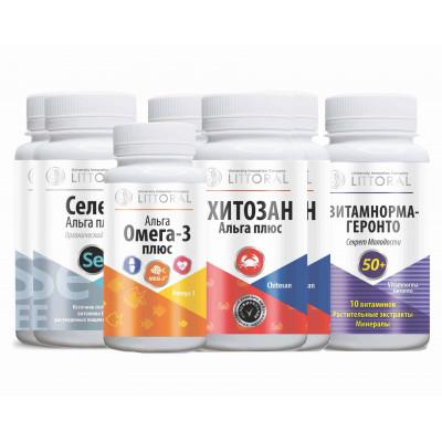 Витаминный Комплекс УнИК Литораль БАД для профилактики сердечно-сосудистых заболеваний