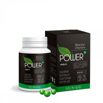 """Мицеллярный комплекс """"POWERman"""" для мужского здоровья, 180 капс по 0,3г (Сиб-Крук)"""