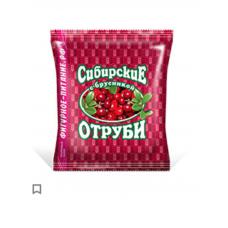 Отруби перемолотые Сибирская Клетчатка Пшеничные с брусникой, 200 гр.