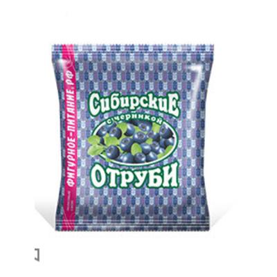 Отруби перемолотые Сибирская Клетчатка Пшеничные с черникой, Биокор 200 гр.