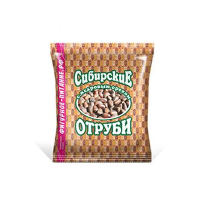 Отруби Сибирская Клетчатка Пшеничные с кедровым орехом, 200 гр.