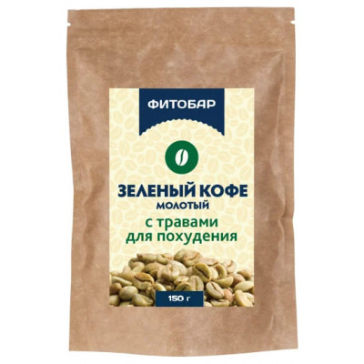 Зеленый кофе с травами, 150 гр.