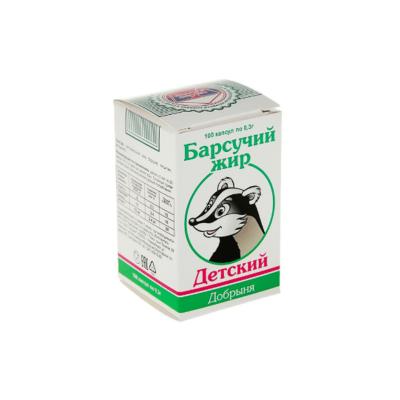 Барсучий жир детский, (Добрыня) 100 капс по 0.3 г
