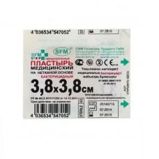Лейкопластырь медицинский, бактерицидный, 3,8 х 3,8 см
