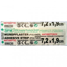 Лейкопластырь медицинский, бактерицидный 7,2 х 1,9 см