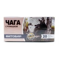 Фиточай Чага с ромашкой, чай Фитобар, 20 ф/п