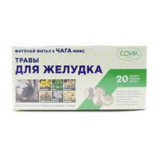 Фиточай Желудочный, СОиК , чай «Фитал 6 Чага-микс», 20ф/п