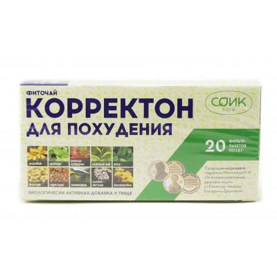 Фиточай для похудения, «Корректон», чай СОиК 20 фильтр-пакетиков по 1,5 г