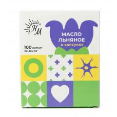 "Масло льняное ""СолНат"", 100 капс по 0,3г"